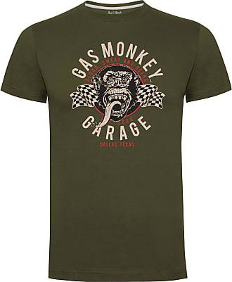 Gas Monkey Garage T-Shirt Twin Flags Green-XL