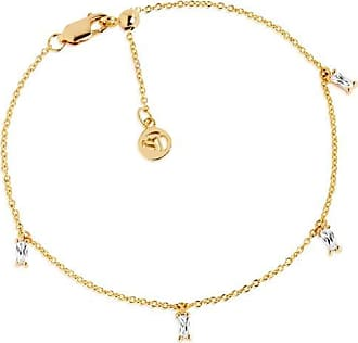 Sif Jakobs Jewellery Ankle Chain Princess - 18k gold plated with white zirconia