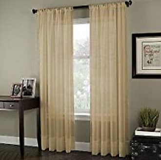 CHF Industries Curtainworks Soho Voile Sheer Curtain Panel, 59 by 95, Honey