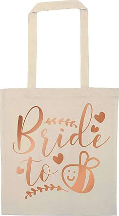 Flox Creative Natural Tote Bag Rose Gold Bride to Bee