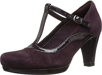 53c03e0d3be2 Clarks Womens Chorus Pitch Dress Pump Aubergine Leather Combi 10 M US