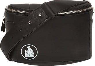 Lanvin Logo Shoulder Bag Womens Black