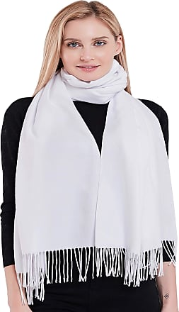Off White Thick Solid Colour Design Cotton Blend Shawl Pashmina CJ Apparel *NEW*