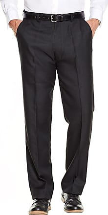 Chums Mens Quality Formal Smart Casual Work Trouser Pants Home/Office Black 38W / 27L