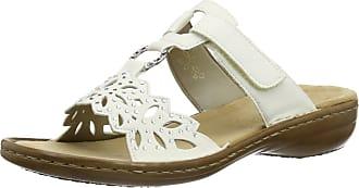 Rieker Womens 608A6-80 Heels Sandals, White (White), 8 UK