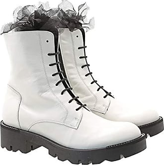 Moncler , Herren Kurzschaft Stiefel, Weiß weiß Größe: 38