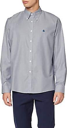 Brooks Brothers Ni Oxford with Fun Logo Milano Camicia Casual Uomo