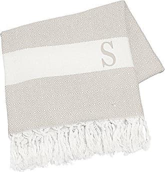 Cathy's Concepts Personalized Turkish Throw, Letter S, Beige