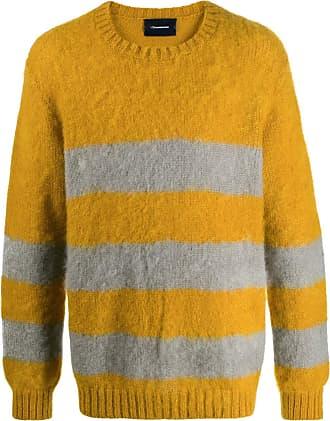 JohnUndercover Suéter listrado mangas longas - Amarelo