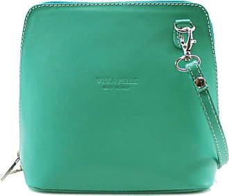 Your Dezire Ladies Genuine Italian Leather Small Cross Body Messenger Bag Women Shoulder Over Bags Handbags,Vera Pelle (Turquoise)