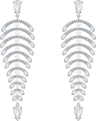 1159aaa99a23d1 Swarovski Orecchini chandelier Polar Bestiary, bianco, Placcatura rodio