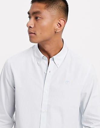 Timberland pop stripe regular long sleeve shirt-Blue