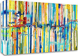 Tangletown Fine Art Articulated View No. 3 Canvas Art 40x32 Blue, Yellow