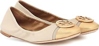 Tory Burch Minnie Cap-Toe leather ballet flats
