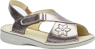 Doctor Shoes Antistaffa Sandália Feminina em Couro Metalic 293M Doctor Shoes-Prata-34