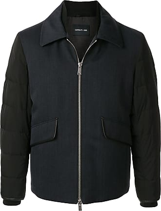 Cerruti quilted sleeve colour-block jacket - Blue