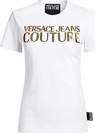 size MEDIUM White VERSACE JEANS Women/'s Graphic Animal Print Top