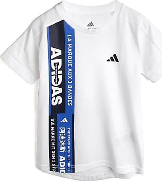 adidas Performance Camiseta adidas Performance Menino Lettering Branca