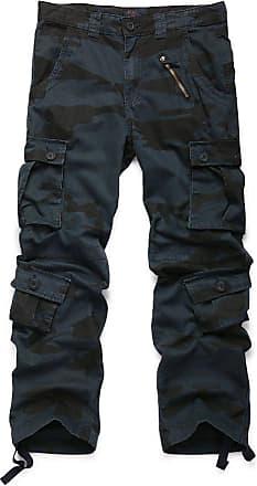 OCHENTA Mens Cotton Casual Military Army Camo Combat Trousers,Wild Cargo Pants with 8 Pockets 3357 Camo E 40