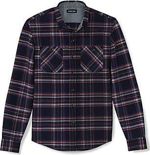 Lands End Flanell-Workerhemd für Herren, Classic Fit - Blau - 60 von Lands End