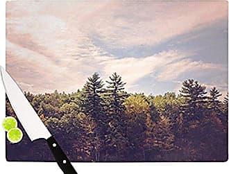 KESS InHouse Jillian AudreyWalden Woods Cutting Board, 11.5 by 8.25-Inch, Green