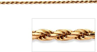PalmBeach Jewelry Rope Chain in 18k Gold over Sterling Silver 24