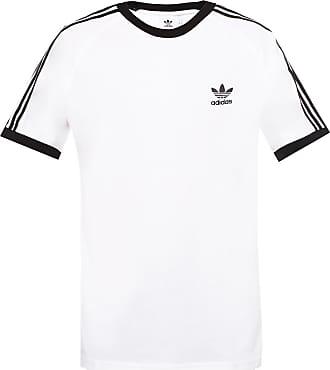 adidas Logo-embroidered T-shirt Mens White