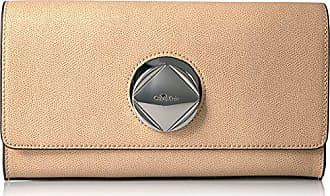 9e8b52f466 Calvin Klein Reese Mercury Structured Flap Clutch Clutch, OATMEAL, One Size