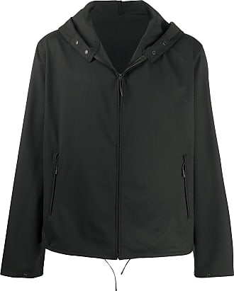 Yohji Yamamoto hooded zipped jacket - Preto