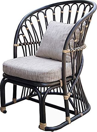 New Pacific Direct 2400017 Meredith Rattan Accent Chairs, One Size, Brown