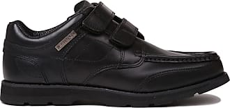 Kangol Mens Harrow Vel Smart Hook and Loop Leather Padded Ankle Collar Shoes Black UK 9.5 (43.5)