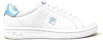 Fila Women Crosscourt Sneaker Synthetic Leather White/Blue Size 3 UK