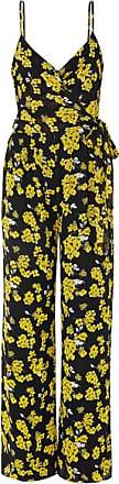 Michael Kors Glam Fleur Floral-print Georgette Wrap Jumpsuit - Black