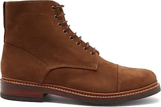 Grenson Joseph Lace-up Suede Boots - Mens - Brown