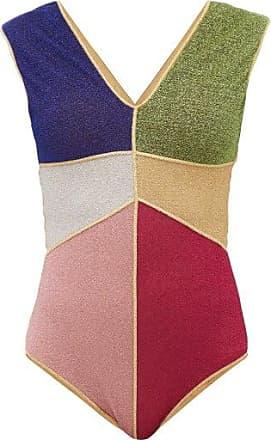 Oséree Colour-block Metallic Swimsuit - Womens - Blue Multi