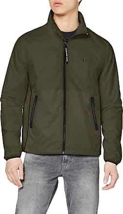 Calvin Klein Jeans Mens Nylon Harrington Jacket, Deep Depths, XL