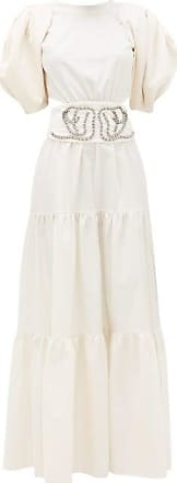 Johanna Ortiz Window To Love Tiered Cotton-blend Maxi Dress - Womens - Cream