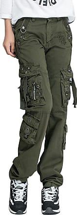 OCHENTA Women Workwear Uniform Combat Cargo 8 Pockets Security Trousers Army Green Lable 30-UK 10