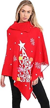 Momo & Ayat Fashions Ladies A Very Merry Christmas Reindeer Snowflakes Chrisrmas Xmas Cape Poncho Size Small to 3XL (3XL (UK 24-26), A Very Mery -Poncho)