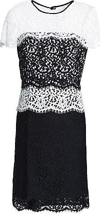 Milly Milly Woman Two-tone Corded Lace Mini Dress White Size 10