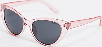 SVNX Occhiali da sole cat-eye con montatura rosa trasparente
