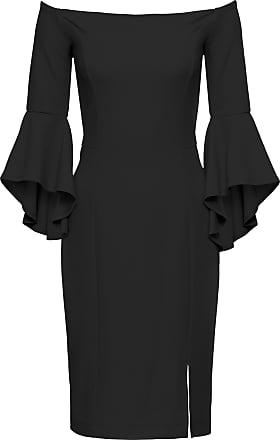 ac77c410bbe217 BODYFLIRT boutique Kleid mit Trompetenärmeln in schwarz von bonprix