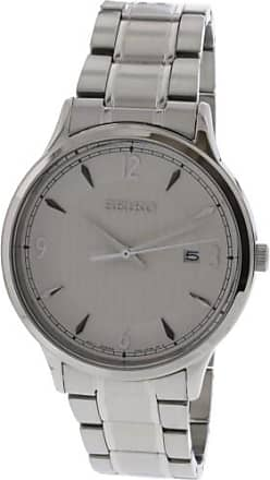 Seiko Mens SGEH79 Silver Stainless-Steel Japanese Quartz Dress Watch