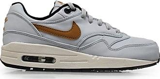 Nike air max 1 premium QS GS trainers 693596 sneakers shoes (uk 6 us 7Y eu 40, pure platinum metallic gold 001)