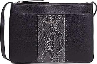 Fiorelli Womens Betty Black Snake Print Crossbody Bag
