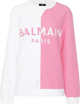 Balmain Moletom Logo Bicolor - Mulher - Rosa - S FR
