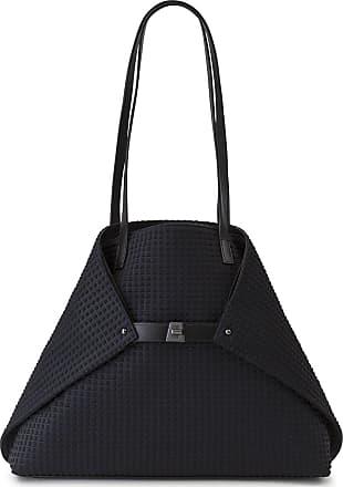 MQaccessories Medium Shoulder Bag in Techno Trapezoid Fabric