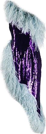16Arlington Vestido com aplicações de penas e paetês - Roxo