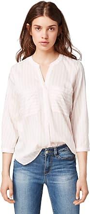 Tom Tailor Denim Womens Gestreifte Blouse, White (White Rose Vertical 21026), Large