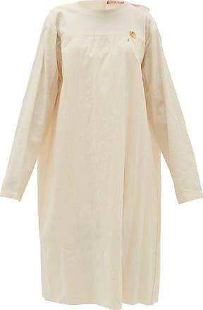 Raf Simons Tie-back Collarless Cotton-canvas Dress - Womens - Ivory